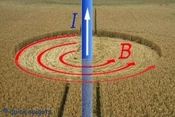 Crop circles created by Lightning Electromagnetic Fields